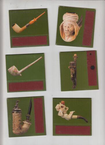 Série de 6   Boîtes d/'allumettes  France Anciennes Pipes