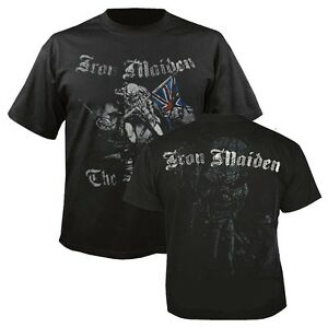 IRON-MAIDEN-Sketched-Trooper-T-shirt-Black-Mens-New-039-Official-039