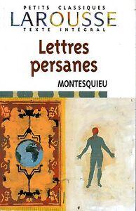 LETTRES-PERSANNES-MONTESQUIEU-EXCELLENT-ETAT