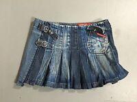 Womens Miss Sixty Denim Pleated Skirt - W28 - Dark Navy Wash - Great Condition