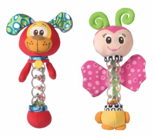 New Baby Boy Girl Playgro Twinkle Activity Stick BPA Free Dog Butterfly 3 Mths