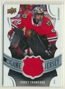 2018-19-Upper-Deck-Series-1-UD-Game-Jersey-Corey-Crawford-Chicago-Blackhawks