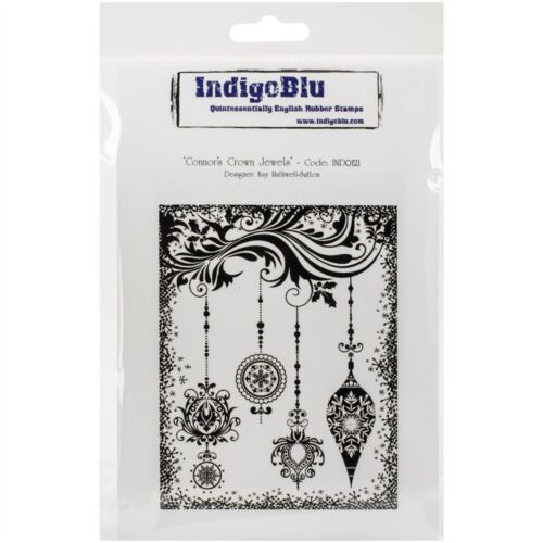 """Indigoblu Cling Mounted Stamp 5/""""x8/""""-connors Crown Jewels"""