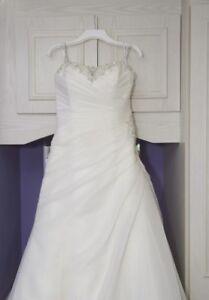 7a3efe9e4eb8 Image is loading used-wedding-dress-size-14-16