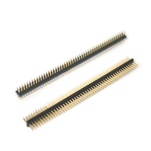 2x50P 1,27mm Stiftleisten Doppelreihig Male Pin Header Steckverbinder Vergoldet