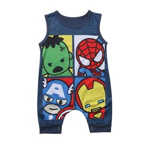 Newborn Toddler Baby Boys Girls Cotton Romper Jumpsuit Bodysuit