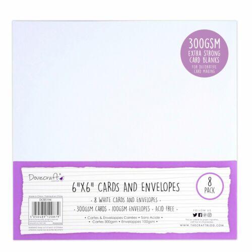 "8pk Kraft Dovecraft Essentials Craft Cards and Envelopes 5x7/"""