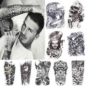 11-Stil-Wasserfest-Einmal-Tattoo-Koerper-Tattoos-Aufkleber-Hauttattoo-Schmuck-Neu