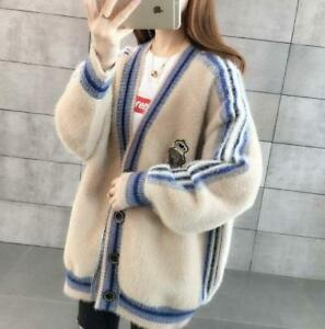 Womens-Warm-Loose-Coat-Soft-Mink-Fur-Cashmere-Cardigan-Sweater-Jackets-Oversized