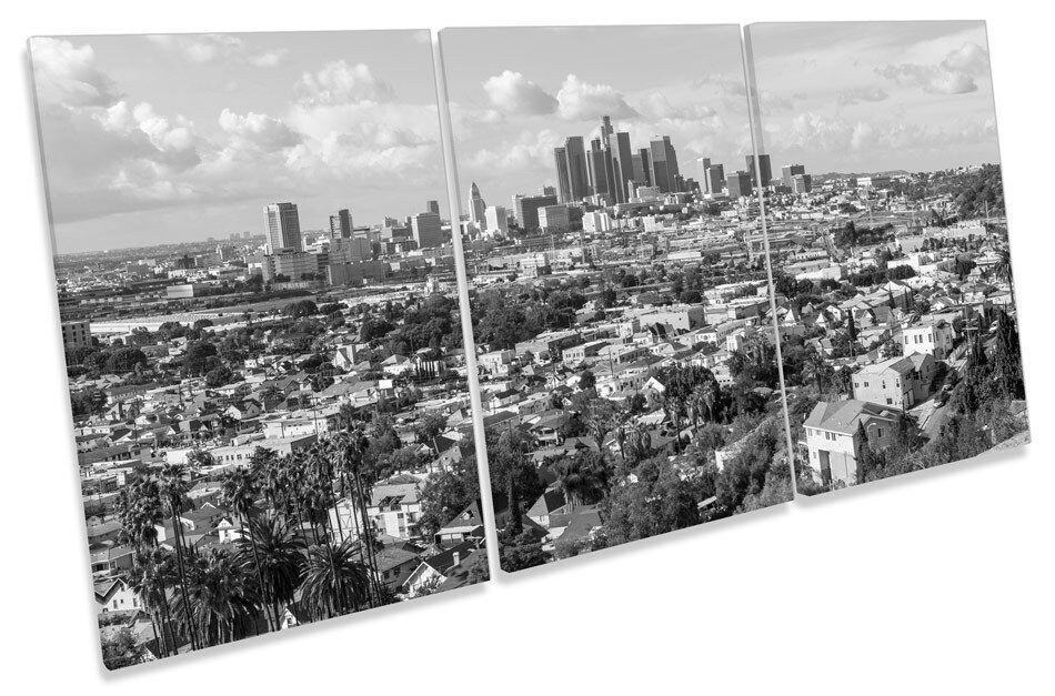 LOS ANGELES CITY SKYLINE TREBLE TELA parete arte foto stampa
