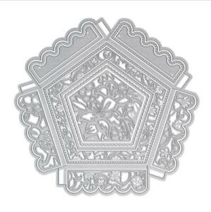 Stanzschablone-Schachtel-Box-Decke-Weihnachten-Geburtstag-Hochzeit-Karte-Album