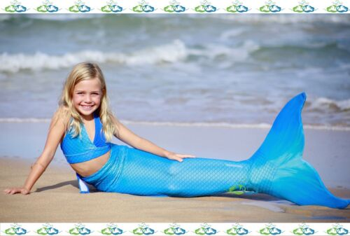 THE2TAILS™ Child Swimmable Mermaid Tail Affordable with Fin ALL COLORS!! :