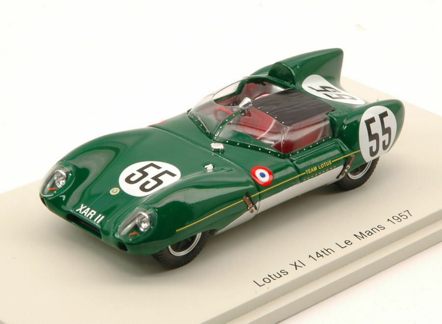 Lotus xi   55 14. lm 1957 c. allison   k. hall 1 43 modell spark - modell