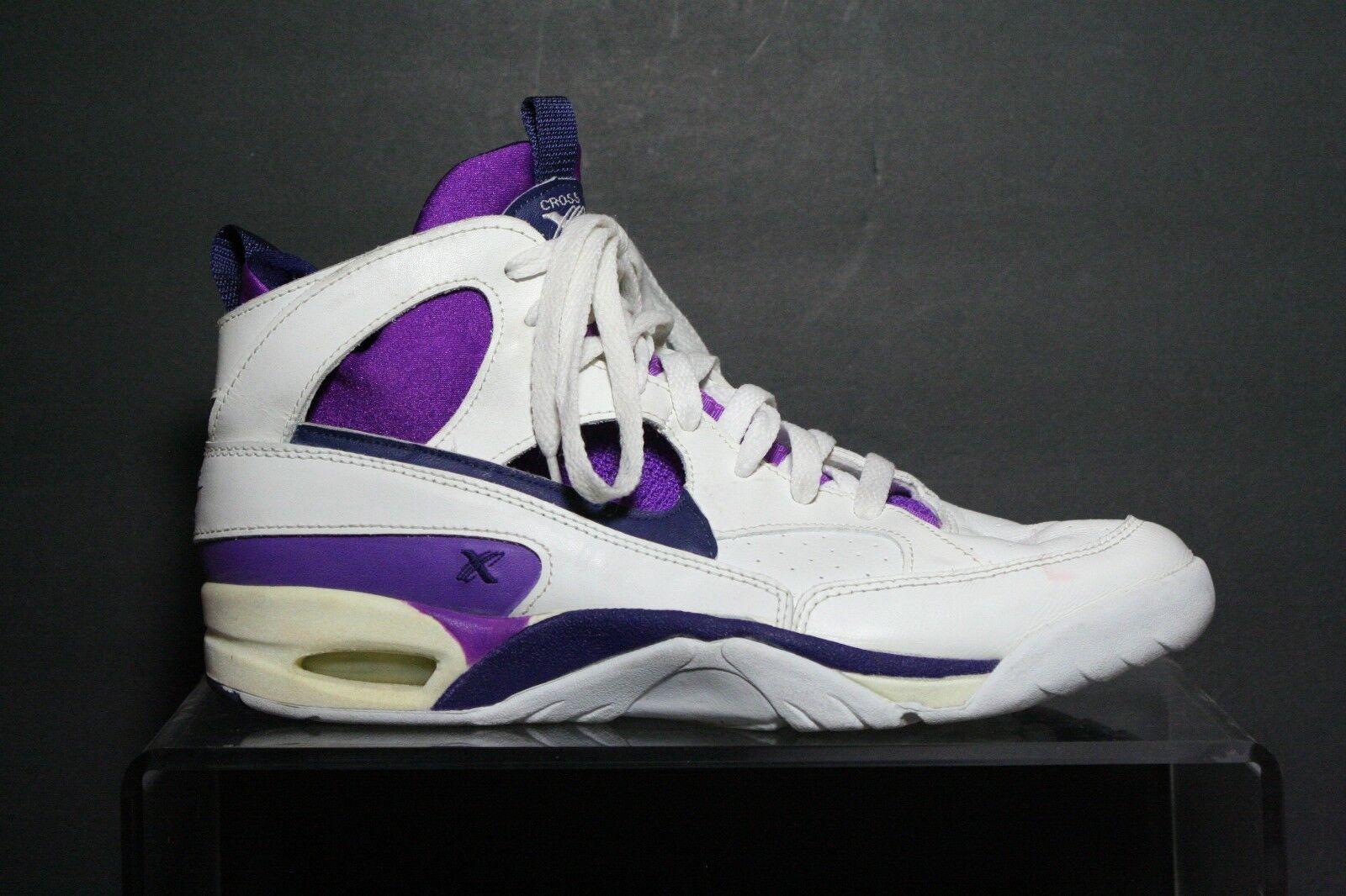 Nike Cross Training VTG OG 1993 Women 10 Athletic Multi White Purple Navy Hip