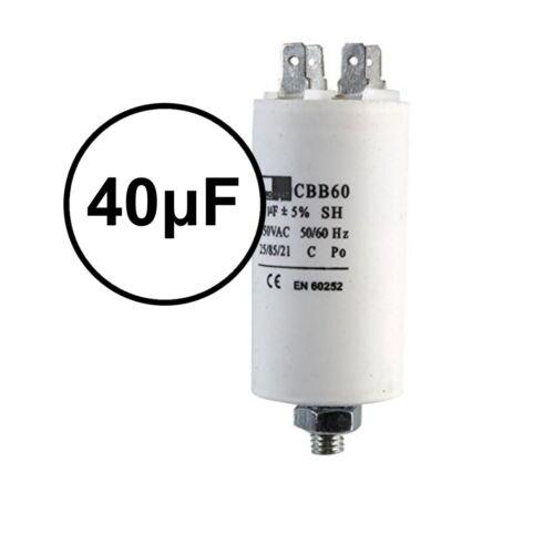 Universal Microfaradios Inicio Ejecutar Motor condensadores de 1.5μF a 80μF Spade Condensador uf