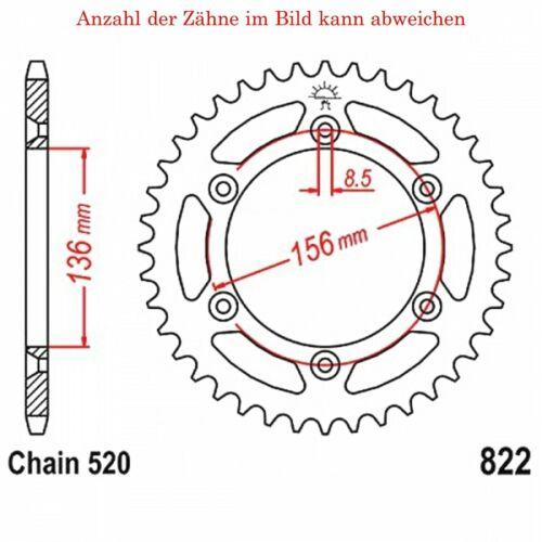 Kettenrad 52 Zähne für Husqvarna TE 449 i.e Baujahr 2011-2013 von jt-Sprockets