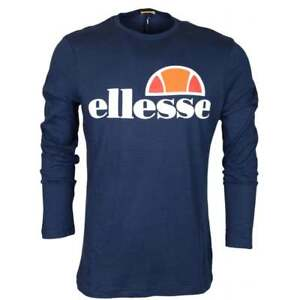Ellesse-Grazie-Long-Sleeve-Dress-Blue-Navy-Cotton-T-Shirt