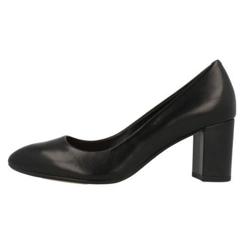 Blissful Zapatos Nube Piel Bloque Mujer En De Negra Salón ' Tacón Clarks' Aqdnx5wAfv