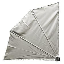 Sichtschutz Balkonfächer Windschutz Seitenmarkise 140x140cm klappbar Grau