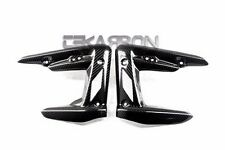 2008 - 2012 Triumph Street Triple Carbon Fiber Radiator Covers - 2x2 twill