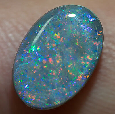 Rare Semi-Black opal solid Lightning Ridge gem 1.80ct Australian Opal SBF030917
