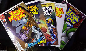 Young-Heroes-in-Love-Issue-1-5-COMIC-BOOKS-LOT-VF-NM-9-0-9-5-1997-DC-COMICS