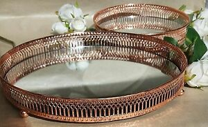 Image is loading COPPER-MIRROR-PLATE-CANDLE-TEALIGHT-HOLDER-TABLE-DECOR- & COPPER MIRROR PLATE CANDLE/TEALIGHT HOLDER TABLE DECOR DISPLAY ...