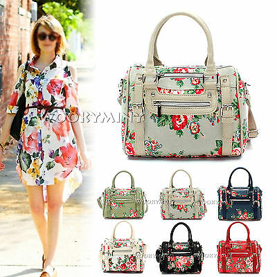 New Women Handbag Ladies Floral Vintage Flower Tote Hobo Shoulder Cross Body Bag