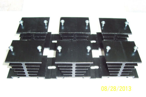 NEW ! ALUMINUM HEATSINKS FOR SOLID STATE RELAYS,SCREWS INCLUDED 6 PCS  BLACK
