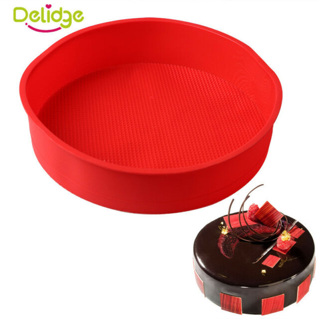 10inch Large Round Silicone Bakeware Cake Baking Trays Pan Muffin Bread Mold