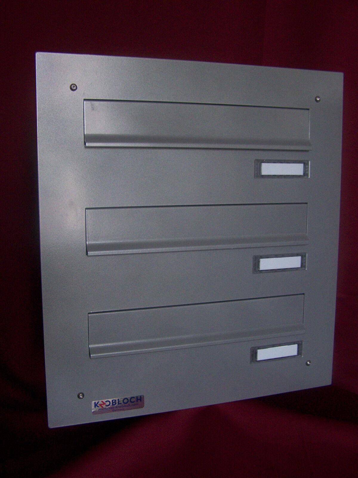 Mauerdurchwurf Briefkastenanlage 300 3 er variable Tiefe Farbauswahl   VA MDH103