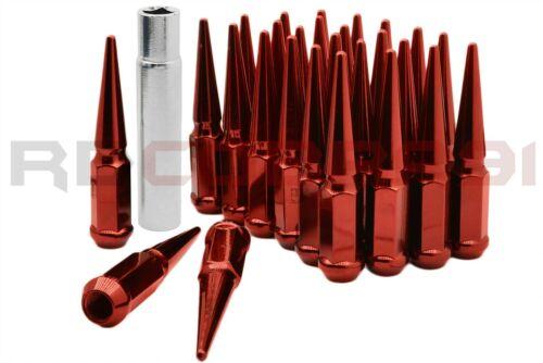 "M14x1.5 4.5/"" Tall Red Spike Lug Nuts key for 2012 Ram 2500 3500 2x4 4x4"