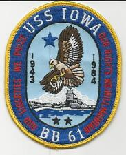 USS Iowa BB-61 (1943 - 1984)  (US Navy Ship Patch) (1980's)