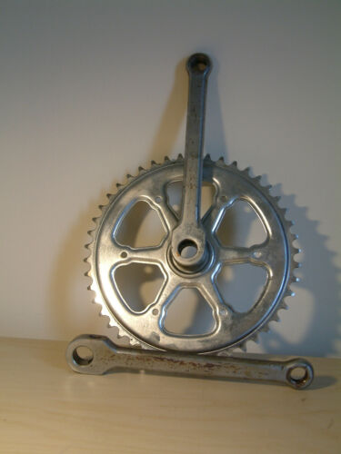 Vintage French Single Chainwheel Cottered Chainset 1970's