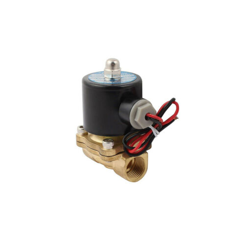 ELECTRIC SOLENOID VALVE AIR WATER OIL BRASS NORMALLY CLOSED 2-WAY 12V 24V 220V