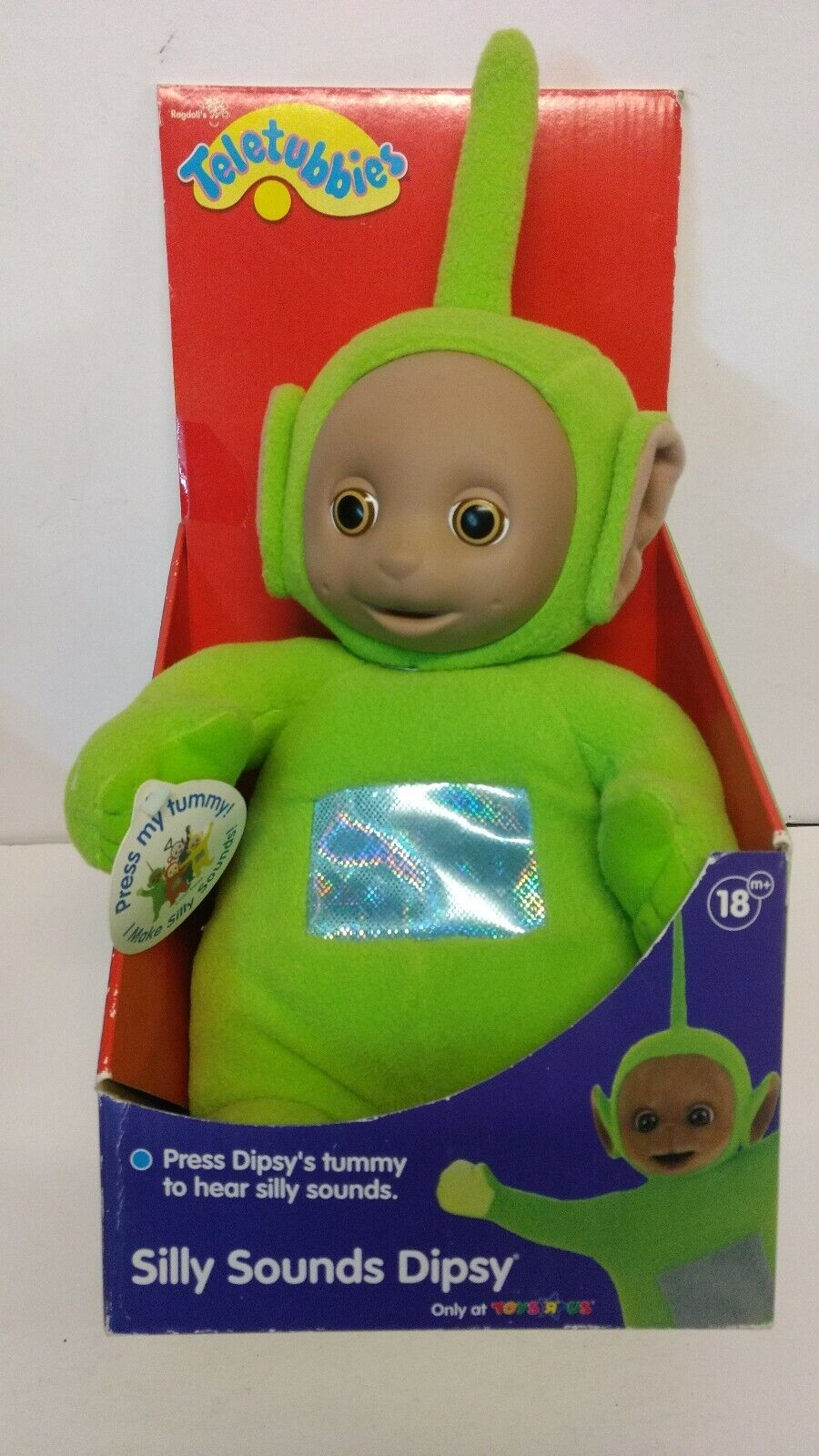 Vintage Teletubbies Silly Sounds Dipsy Talking Plush Toys R Us Exclusive NIB