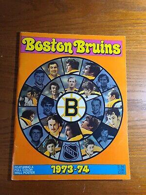 1973-74 boston bruins yearbook | eBay Bruins Roster 1973