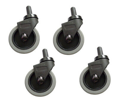 "Rubbermaid 3/"" Swivel Caster Wheels for Mop Bucket s Grey Caster Wheel 4 Count"