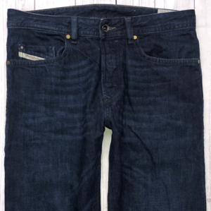 Da-Uomo-DIESEL-BUSTER-Jeans-W30-L30-Blu-Scuro-Regular-Slim-Tapered-Wash-0823K