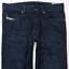 Da-Uomo-DIESEL-BUSTER-Jeans-W30-L30-Blu-Scuro-Regular-Slim-Tapered-Wash-0823K miniatura 1