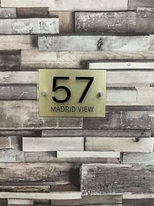 Personalised Name Plate wall House Door Door Signs Plaques Door Numbers