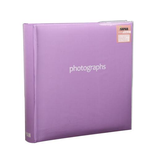 """Púrpura grande Memo Slip En Funda Álbum de Fotos contiene 200 fotos /"""" 6 X 4 Pulgadas-sm200pe"""
