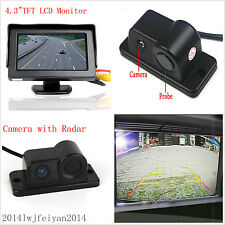 "Car Reverse Parking Rear View Camera & Radar Alarm System+4.3""HD Display Monitor"