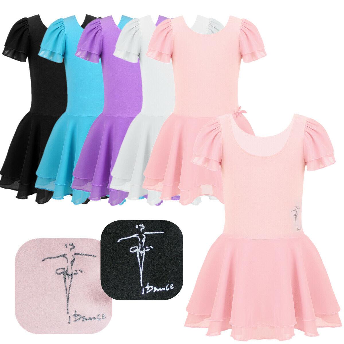 Kids Baby Girls Ballet Dance Dress Yoga Leotard Gymnastics Dancewear Tutu Skirt