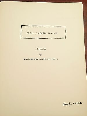 """2001: A SPACE ODYSSEY"" STANLEY KUBRICK MOVIE SCRIPT SCREENPLAY REPRINT 229 PGS!"