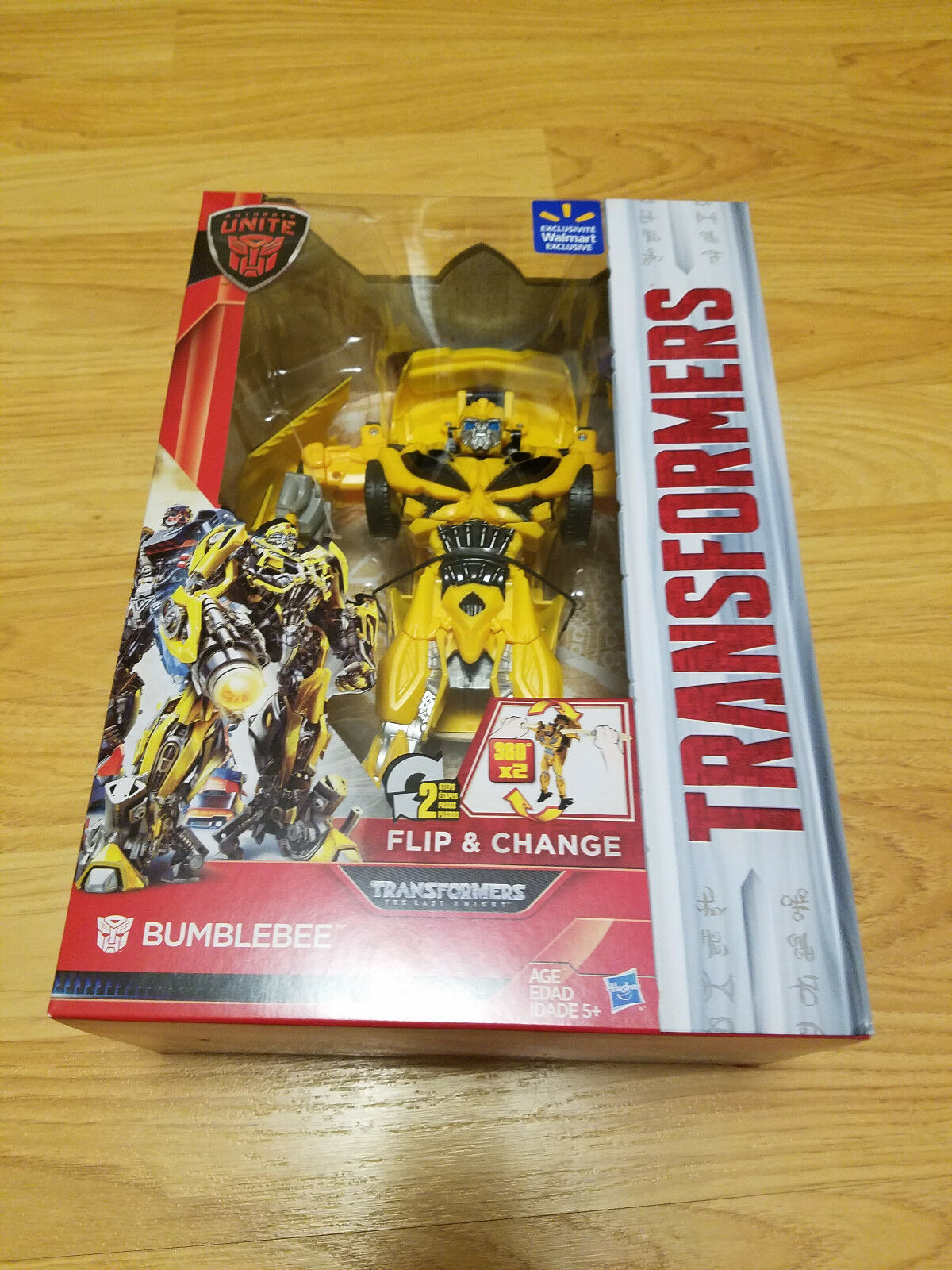 Transformers THE LAST KNIGHT Flip & Change BUMBLEBEE WALMART Exclusive Autobots