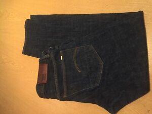 """Raw Gstar dunkelblau Denim Jeans W 34"""" inner Bein 31"""" Länge 39"""" Straight"""