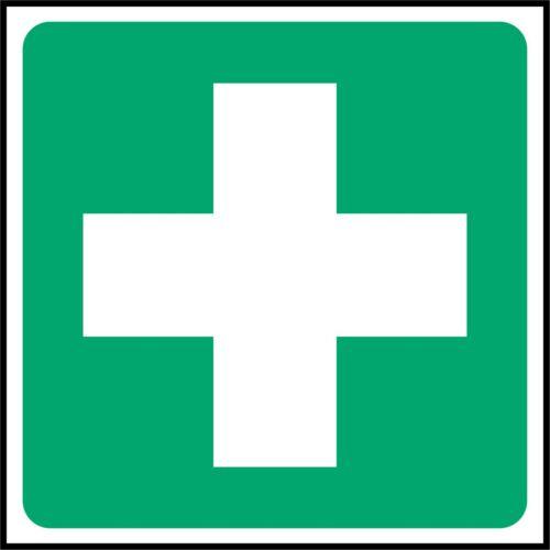 Signo de seguridad plaza de primeros auxilios signos-Adhesivo Pegatina de vinilo exterior impermeable