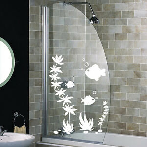 FISH SHOWER SCREEN STICKERS Bathroom Wall Stickers WALL ...