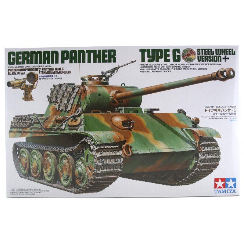 Tamiya German Panther Type G Steel Wheel Model Set (Scale 1 35) - 35174 - NEW